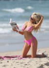 Courtney Stodden cleavage and legs in Bikini