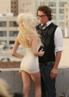 Courtney Stodden on the set of for her upcoming music video Reality