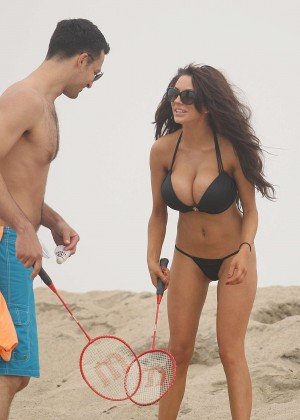 Courtney Stodden: Wearing Black Bikini at a LA beach -01
