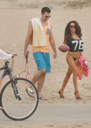 Courtney Stodden: Wearing Black Bikini at a LA beach -03
