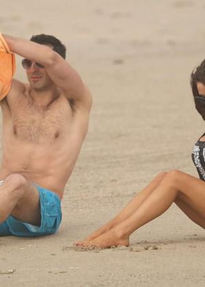 Courtney Stodden: Wearing Black Bikini at a LA beach -07