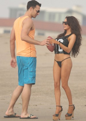 Courtney Stodden: Wearing Black Bikini at a LA beach -09