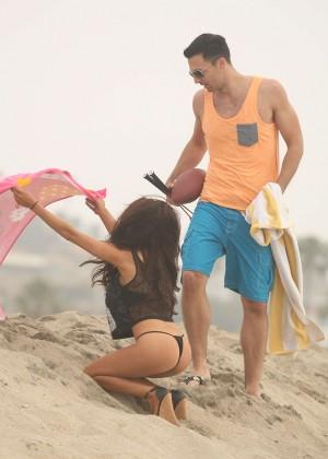 Courtney Stodden: Wearing Black Bikini at a LA beach -11