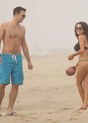 Courtney Stodden: Wearing Black Bikini at a LA beach -20
