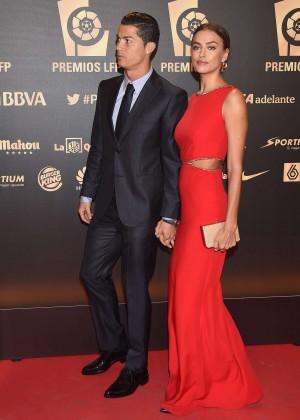Cristiano Ronaldo & Irina Shayk at La Liga Awards 2014 in ... Irina Shayk Cristiano Ronaldo 2014