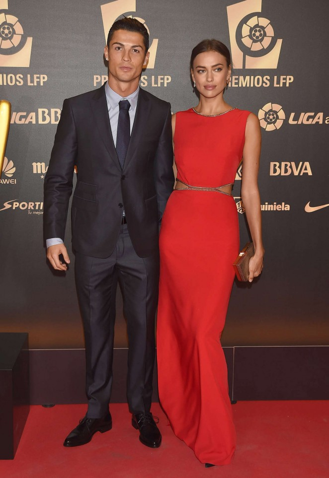 Cristiano Ronaldo & Irina Shayk at La Liga Awards 2014 in Madrid