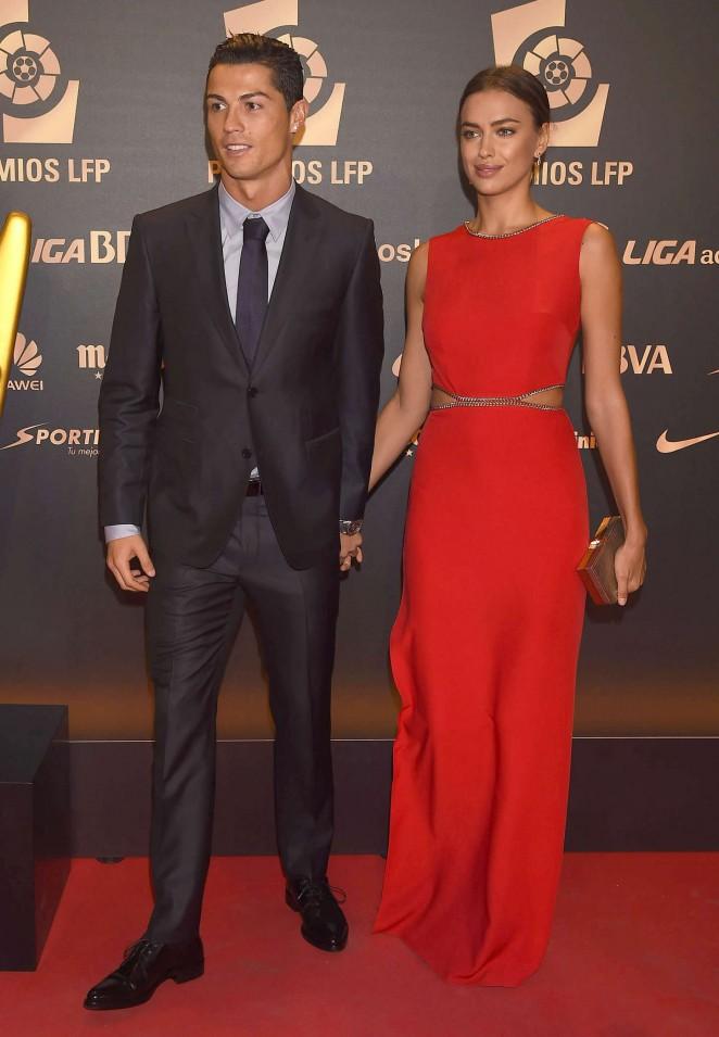 Irina Shayk and Cristiano Ronaldo: La Liga Awards 2014 -05 ... Irina Shayk Cristiano Ronaldo 2014