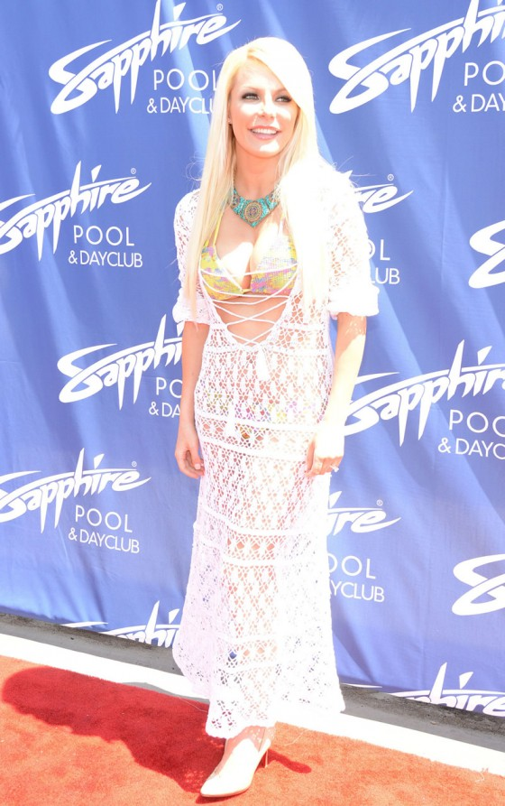 Crystal Harris at the grand opening of Sapphire Pool & Day Club in Las Vegas