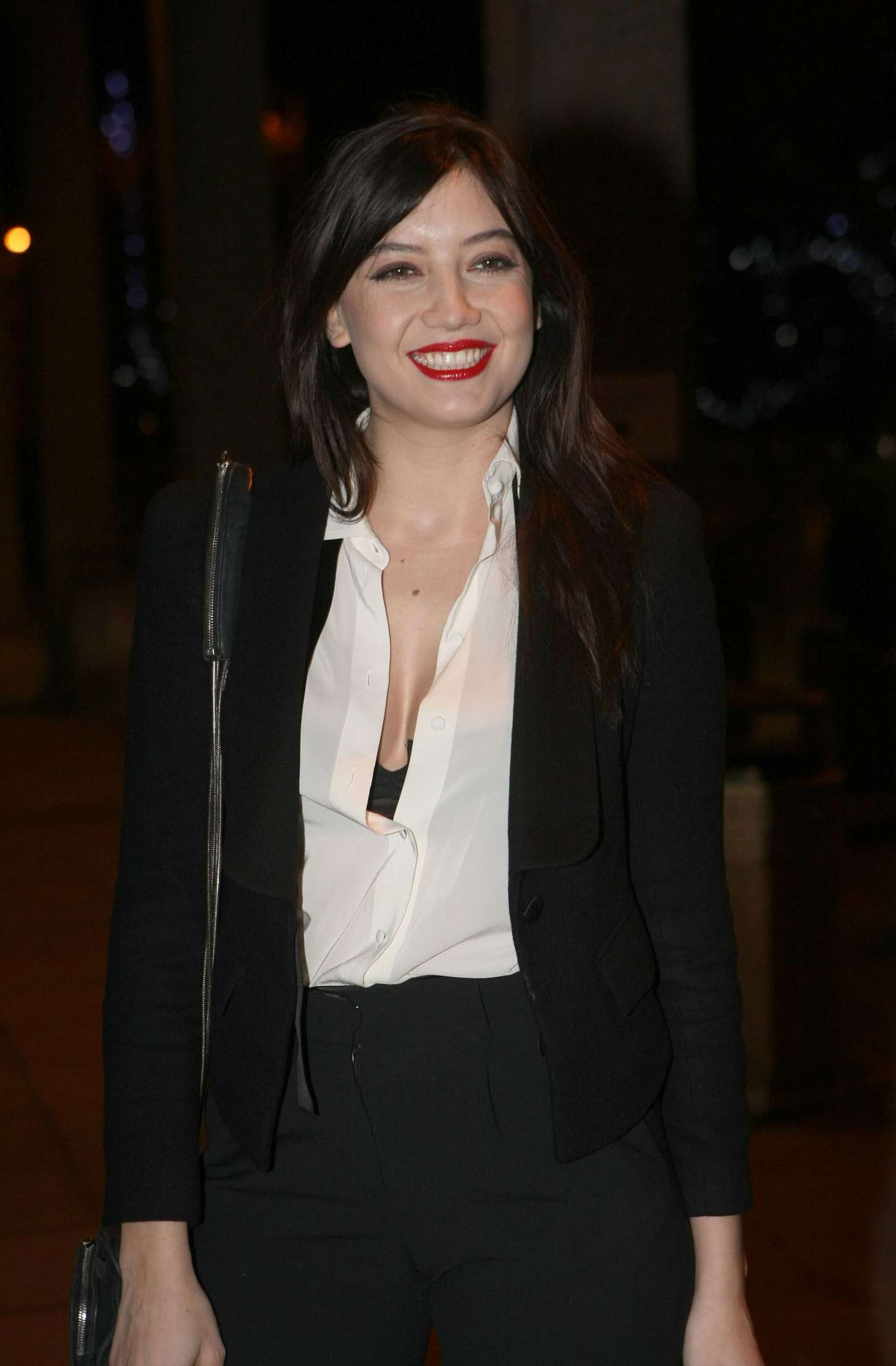 Daisy Lowe - Arriving at The Late Late Show in Dublin