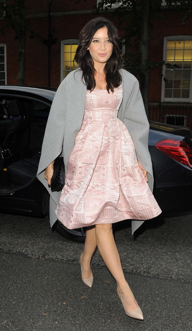 Daisy Lowe - Arriving at Giles Show SS 2015 London Fashion Week