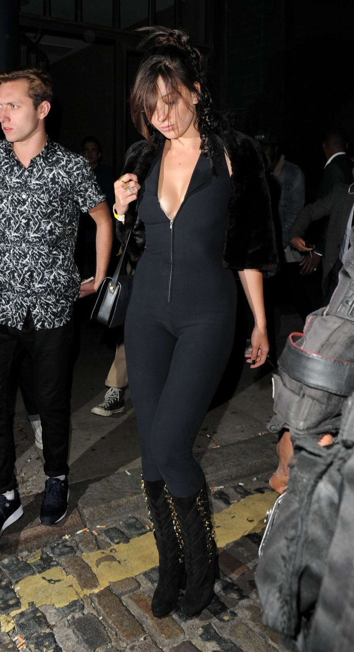 Daisy Lowe in Tight Suit at Nick Grimshaw's Birthday in London
