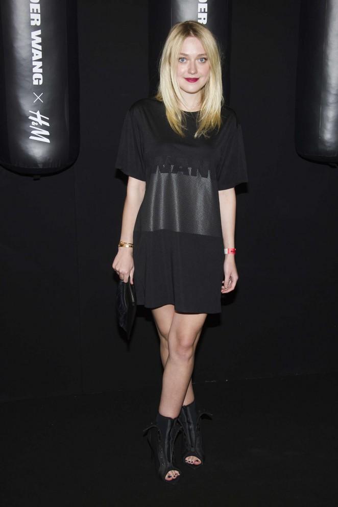 Dakota Fanning - Alexander Wang x H&M Collection Launch in NYC