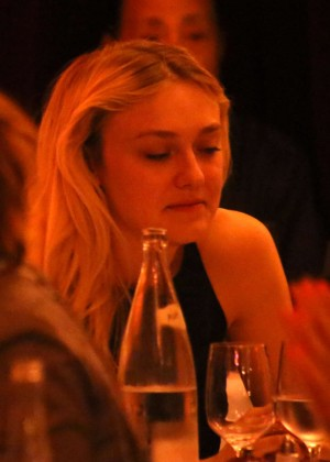 Dakota Fanning Night Out Style in Paris