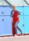 dakota-fanning-hot-in-red-dress-on-set-of-now-is-good-06