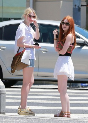 Dakota Fanning In Shorts -08