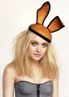 Dakota Fanning wearing bunny ears in Max Jones photoshoot