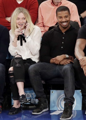 Dakota Fanning - New York Knicks Vs Miami Heat in NYC