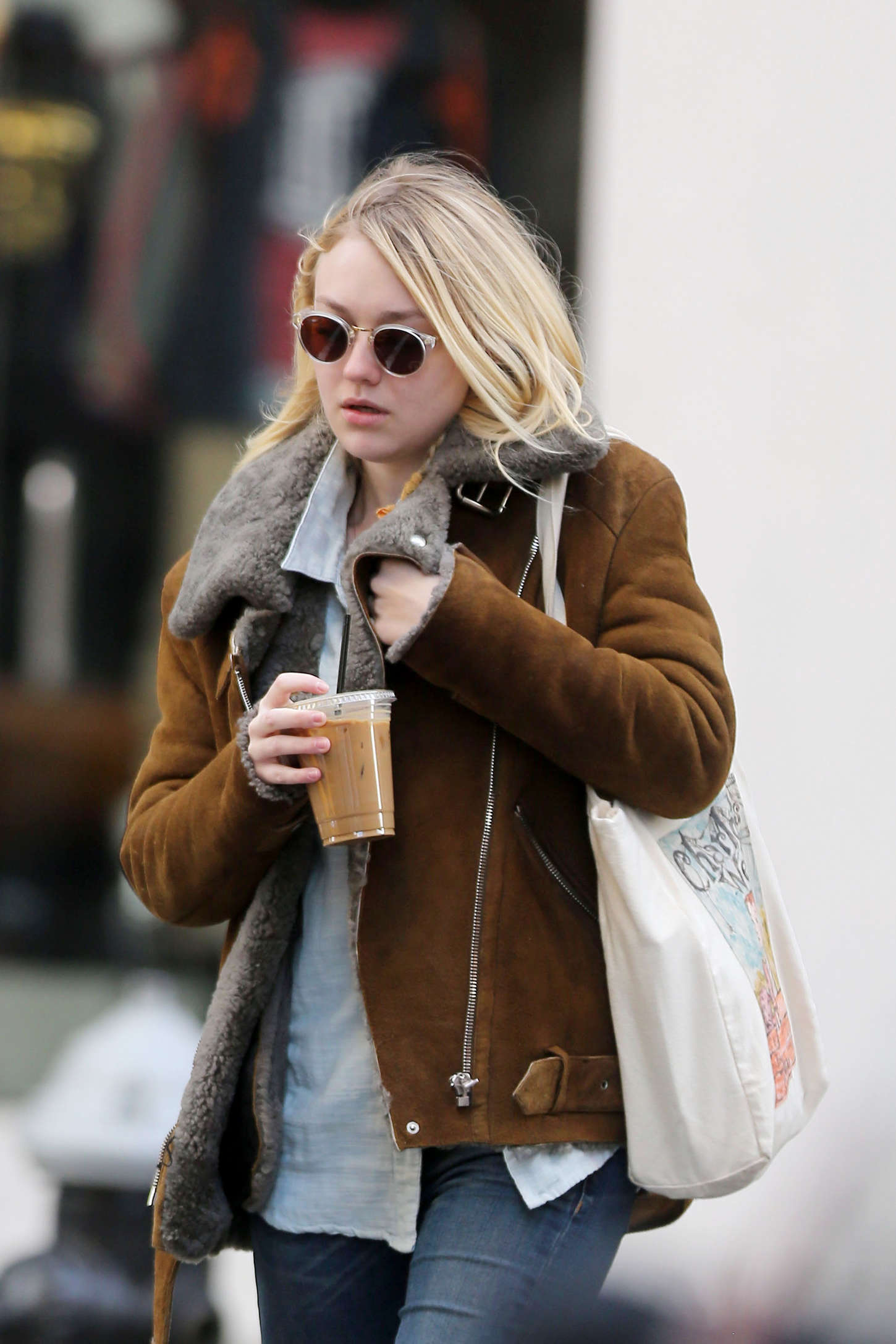 Dakota Fanning in Tight jeans out in NYC
