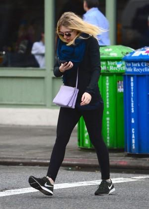 Dakota Fanning in Spandex out in New York