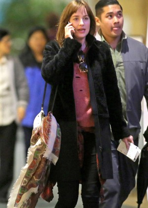 Dakota Johnson at International Airport in Vancouver
