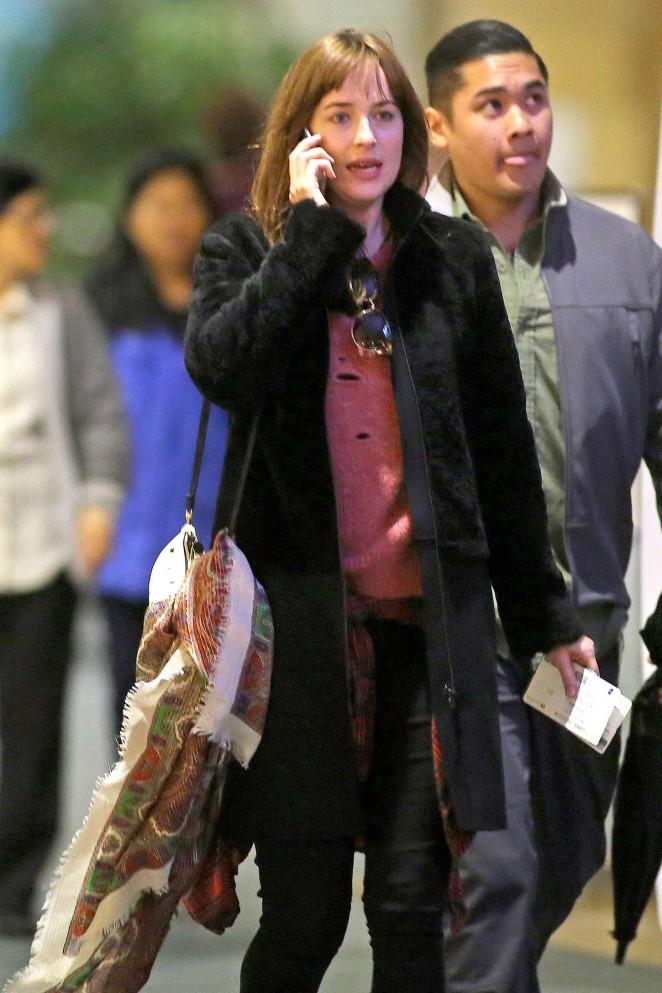 Dakota Johnson at International Airport in Vancouver
