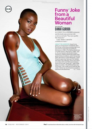 Danai Gurira - Esquire Magazine (November 2014)