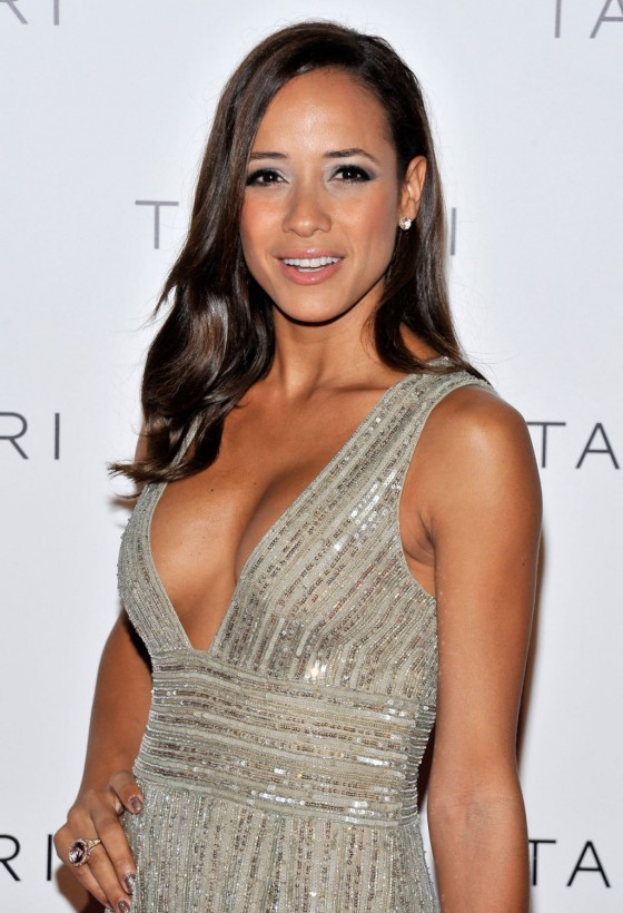 Dania Ramirez showing cleavage at Tacori City Lights Launch Party