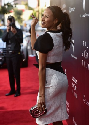 Dania Ramirez In B&W at 2014 Lexus Short Films premiere in Los Angeles