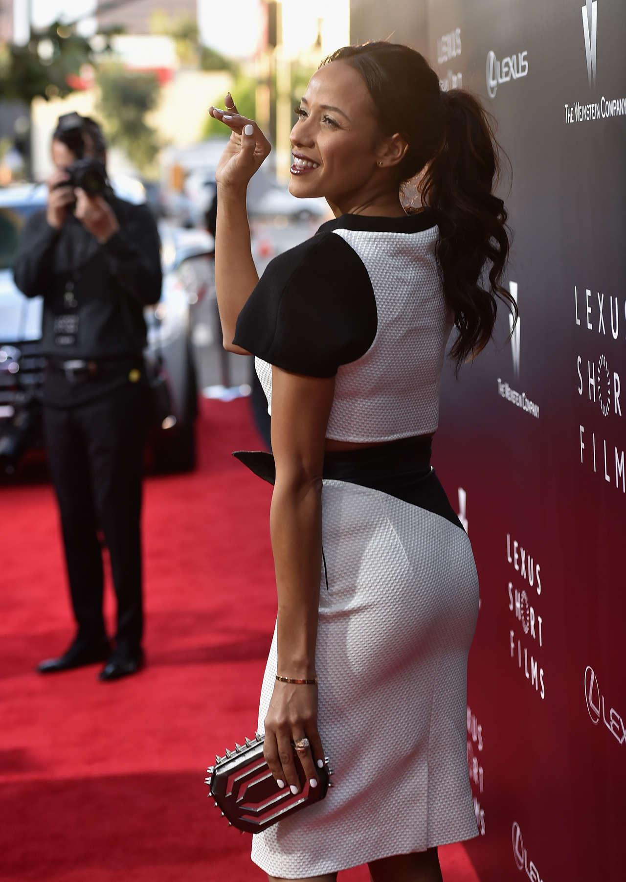 Dania Ramirez In B&W at 2014 Lexus Short Films premiere in Los Angeles