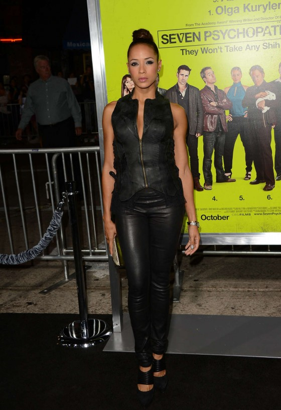 Dania Ramirez – Hot In Tight Leather at Seven Psychopaths premiere-03