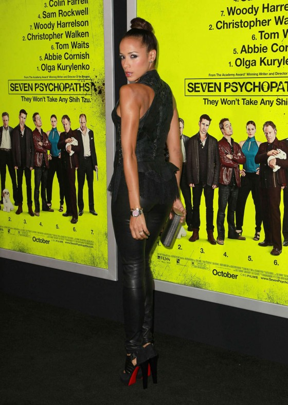Dania Ramirez – Hot In Tight Leather at Seven Psychopaths premiere-13