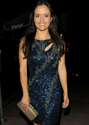 Danica McKellar in Blue Dress out in Hollywood
