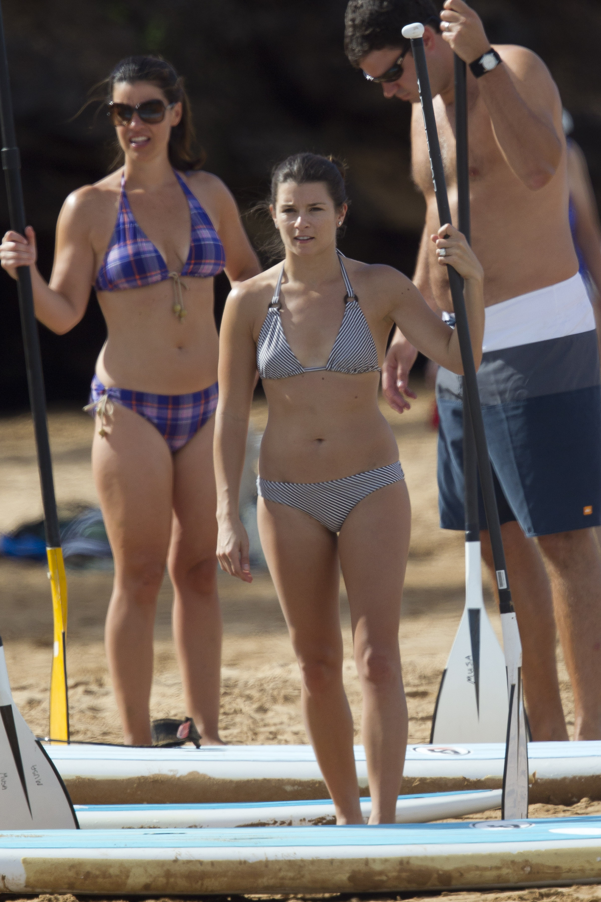 Danica Patrick Black White Bikini In Hawaii 09 Gotceleb