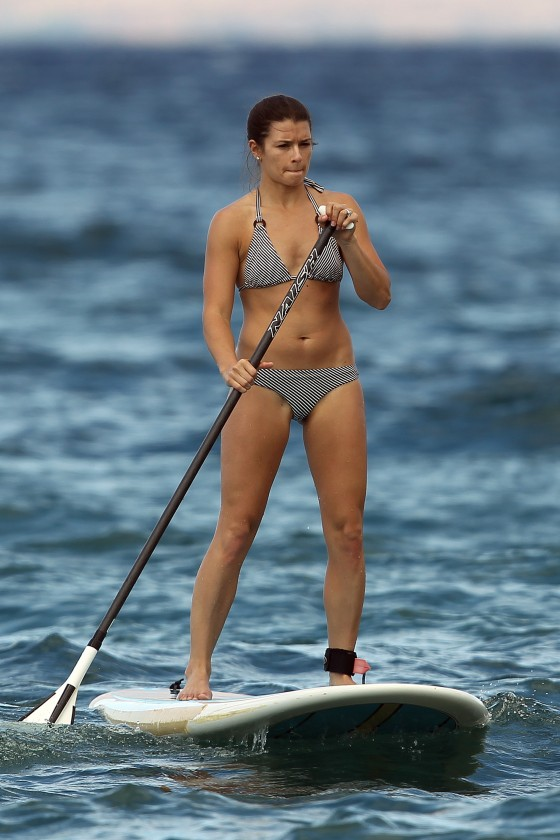 Danica Patrick – Black White Bikini in Hawaii-17