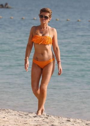 Daniella Westbrook: Wearing Bikini in Dubai 2014 -04