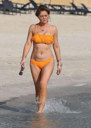 Daniella Westbrook: Wearing Bikini in Dubai 2014 -06