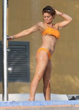 Daniella Westbrook: Wearing Bikini in Dubai 2014 -11