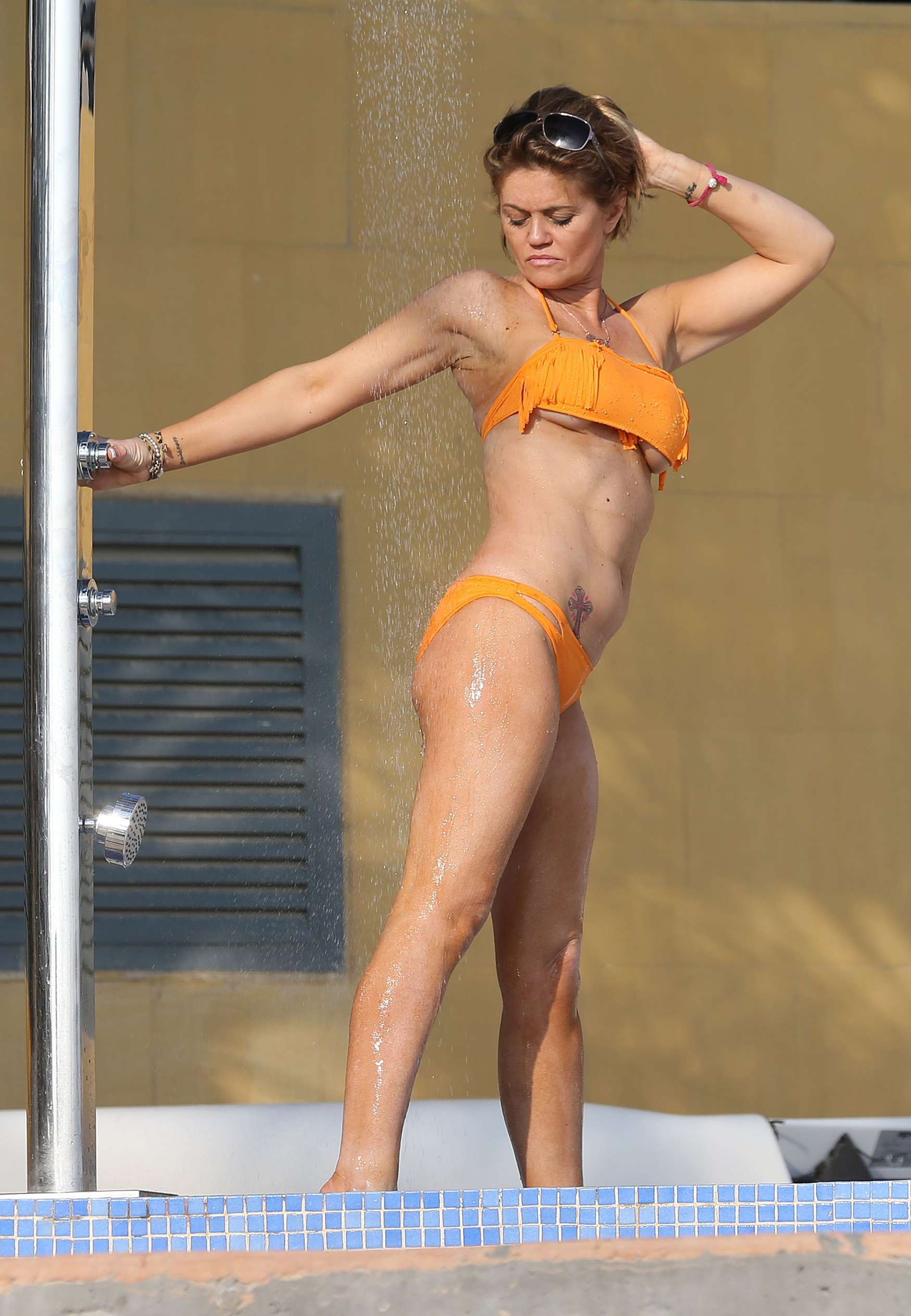 daniella westbrook  wearing bikini in dubai 2014
