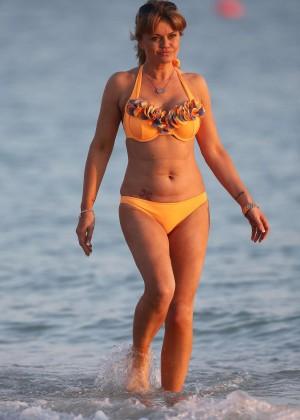 Daniella Westbrook: Wearing Bikini in Dubai 2014 -15