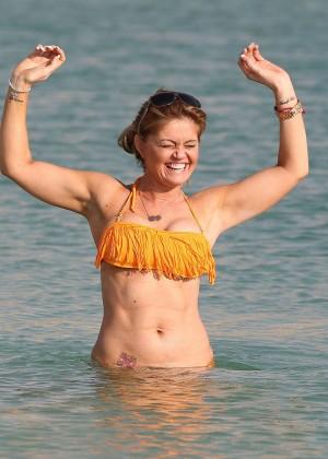 Daniella Westbrook: Wearing Bikini in Dubai 2014 -18