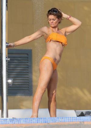 Daniella Westbrook: Wearing Bikini in Dubai 2014 -22