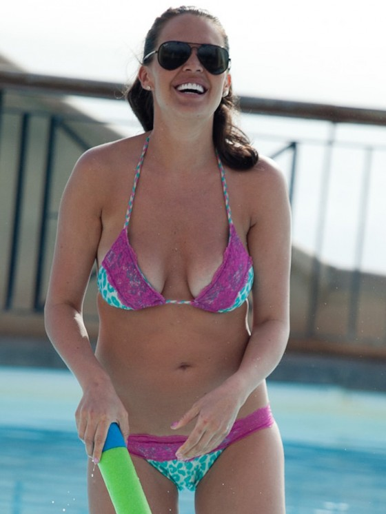 Danielle Lloyd - Bikini in Spain -09