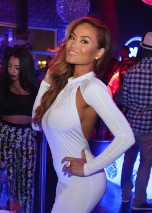 Daphne Joy in Tight Dress - Hosts Penthouse Nightclub in West Hollywood