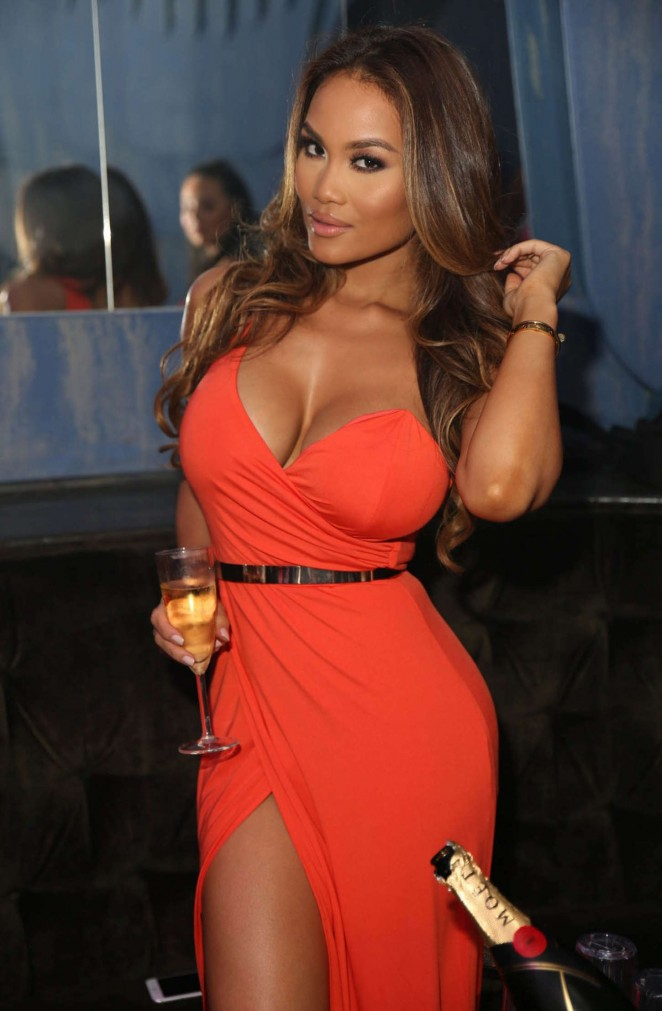 Daphne Joy in Red Dress - Hosts a Night at The Cosmo in Hollywood