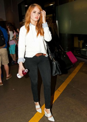 Debby Ryan in Tight Pants at LAX -05