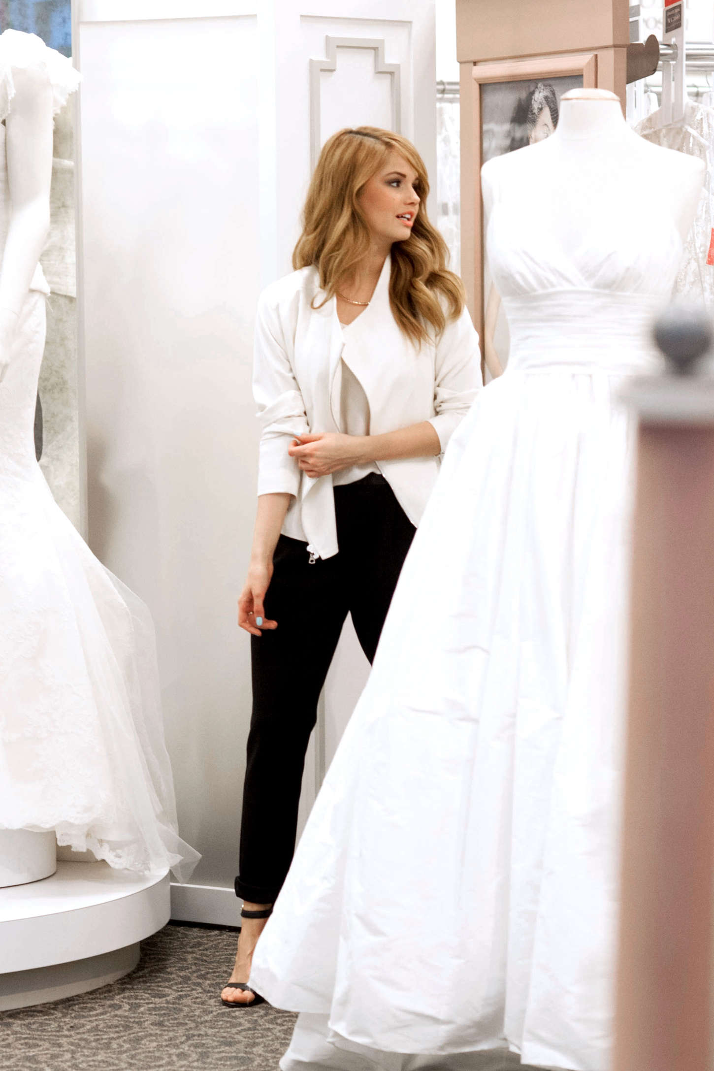 Debby ryan shopping for a wedding dress for her show jessie in la rbp share next post pixie lott ombrellifo Gallery