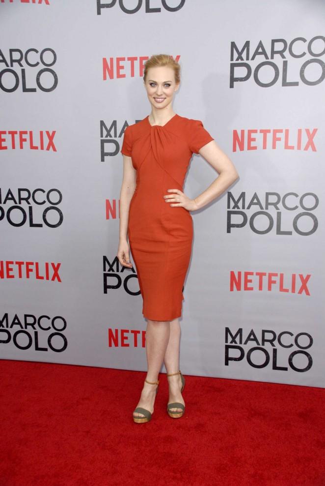 "Deborah Ann Woll – ""Marco Polo"" Series Premiere in New York"