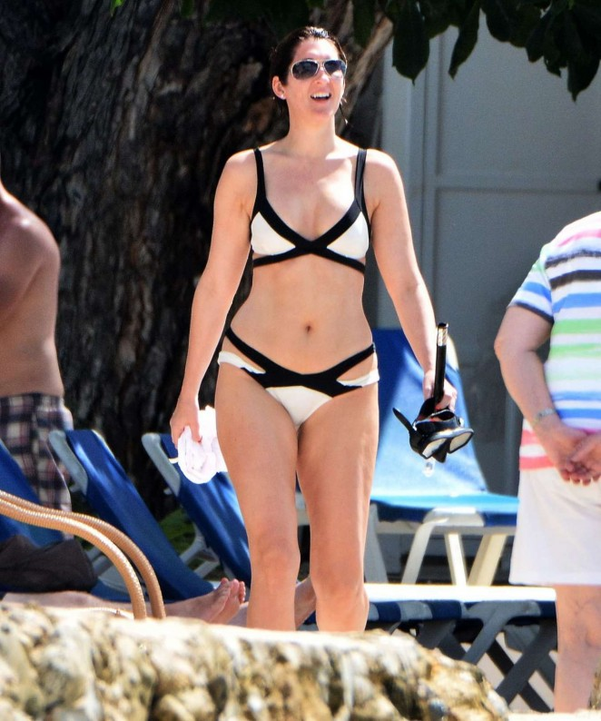 Deborah Barr - Wearing Bikini in Barbados