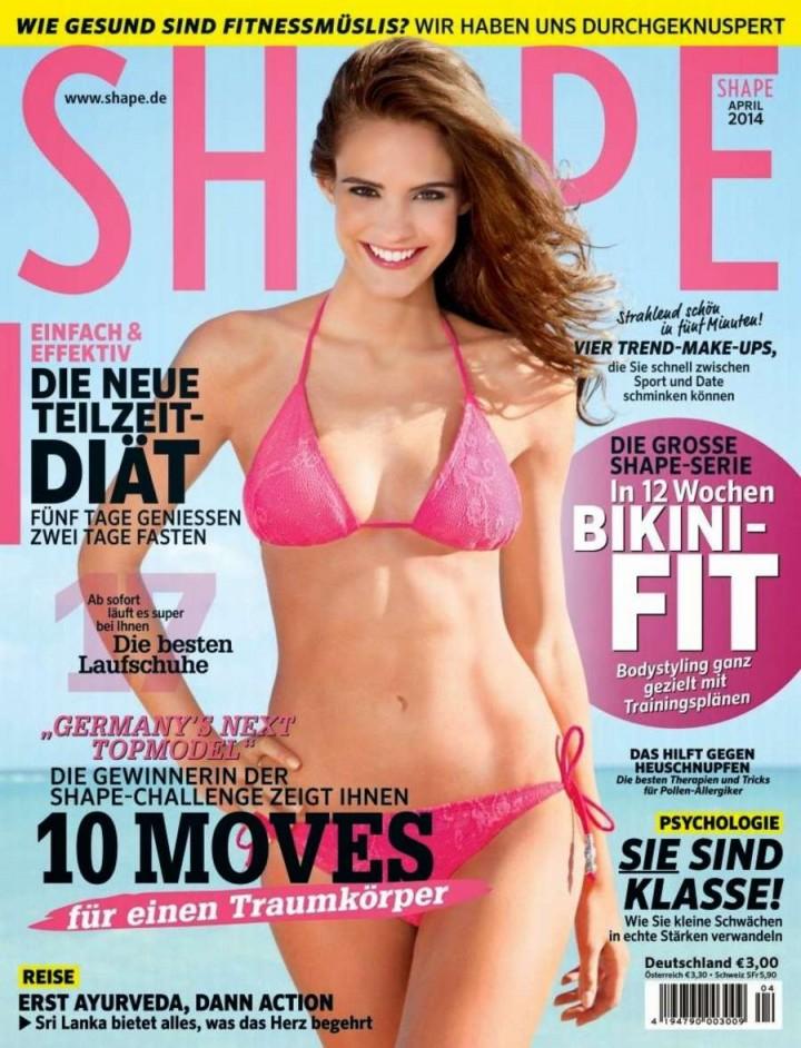 Deborah Mace – Shape Germany Magazine Cover (April 2014)