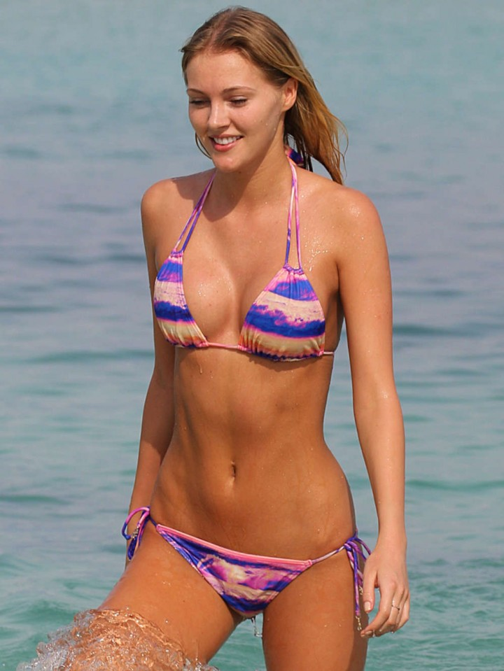 Deimante Guobyte – Wearing Bikini on Miami Beach